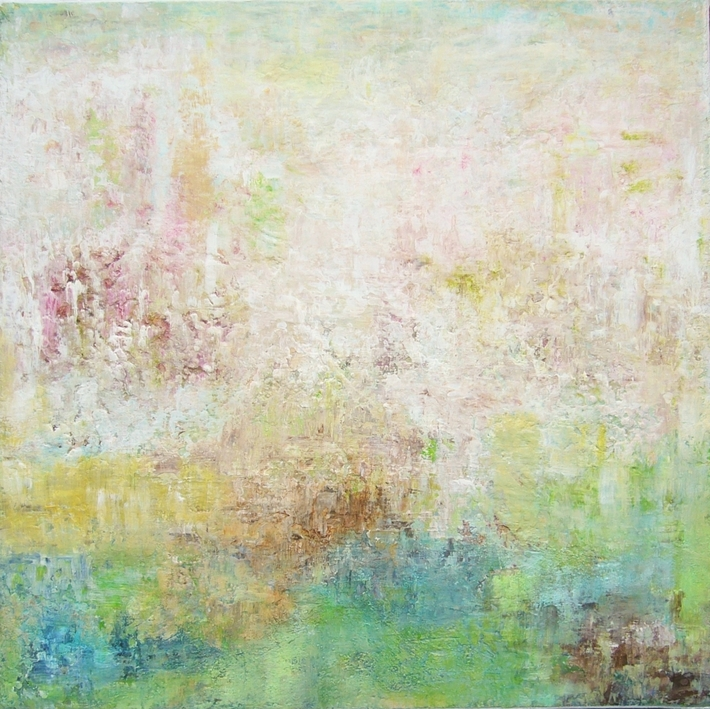 Memories III, Mischtechnik, 50 x 50 cm, Leinwand auf Keilrahmen im Schattenfugenrahmen (3)