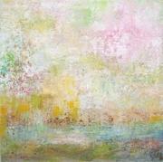 Memories II, Mischtechnik, 50 x 50 cm, Leinwand auf Keilrahmen im Schattenfugenrahmen (2)