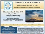 CARING FOR OUR CREEKS:  A GATHERING HOSTED BY THE WALNUT CREEK WATERSHED COUNCIL