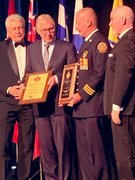 2019 Ret. Fire Chief Len Garis in recognition of Life-time service awarded