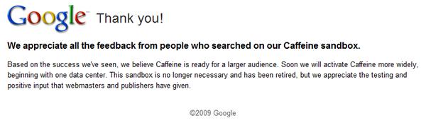 Google Caffeine SEO