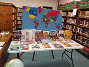 Library Book table at International Day