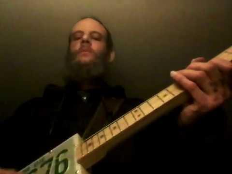 Original 3 String License plate resonator guitar tune FRIDAY 1/10/20