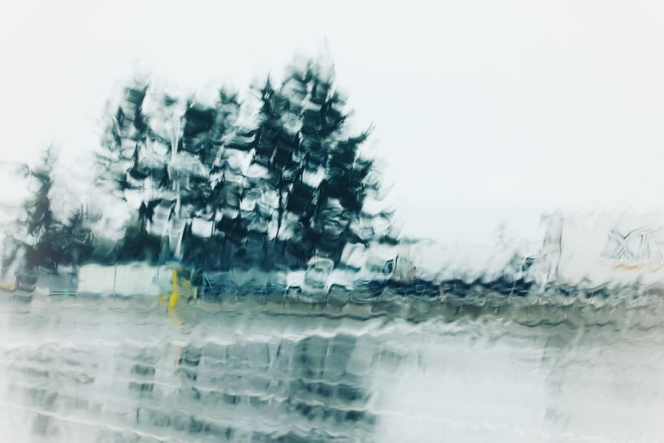 Rain, ferry parking lot, hotbed of creativity!