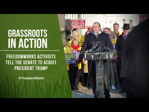FreedomWorks Activists Rally at the US Capitol, Call on Pelosi to Transmit Impeachment Charges