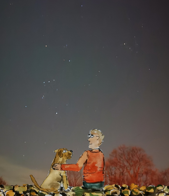 Orion and his dog