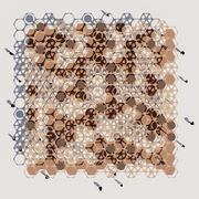 Hexagon and Circle Pattern Shade Pavilion