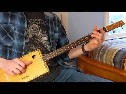 C.Baron 3 String Cigar Box Guitar #108