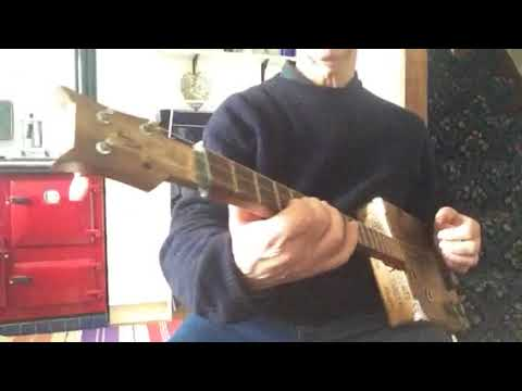 cigar box guitar lesson .Big Rd Blues.