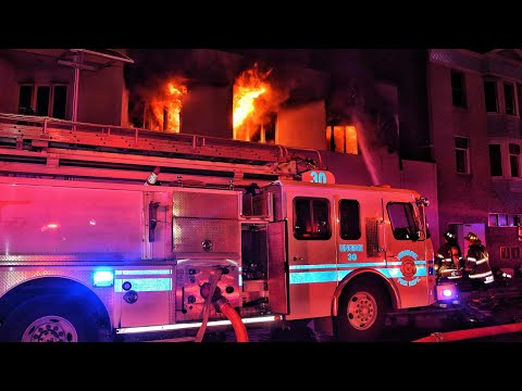Newark Fire Department 2+ Alarm Structure Fire