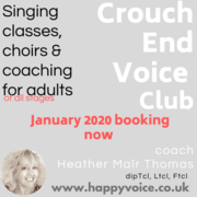 Voice Club Singers, Crouch End Coaching Choir, Starts 21st January