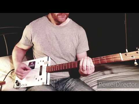 Never Say Die - Black Sabbath - Cigar Box Guitar Play Along