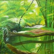 An der Eltz, 2014, Acryl auf Leinwand, 100 x 100 cm
