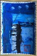 blue grey black challenge mail art 2020