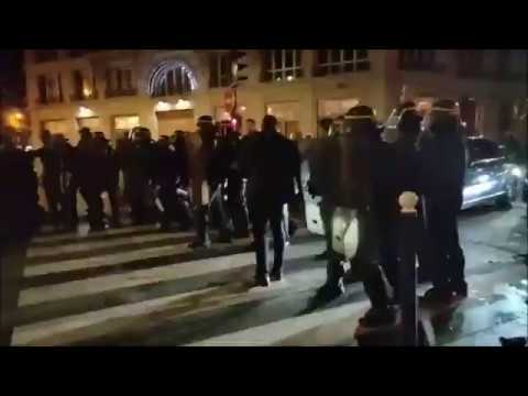 Protesters Tries to get Ahold of Macron inside Theater