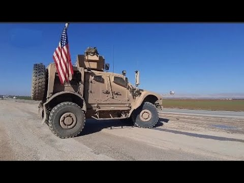 Foreign forces in Northern Syria | January 2020 | Russian patrol blocked by the Americans