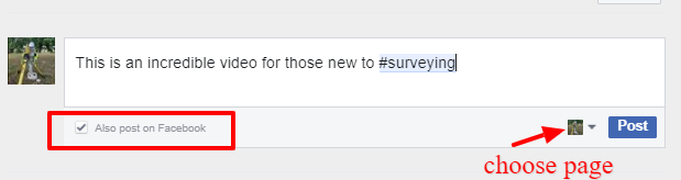 Comment Using your Facebook Page for Land Surveyors