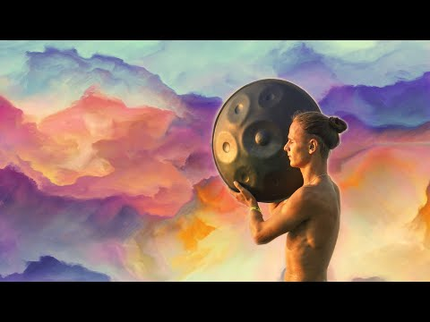 Hang Drum + Tabla + Flute Music | Mystical Yoga Music | Relaxing Music with Bird Sounds + Rain