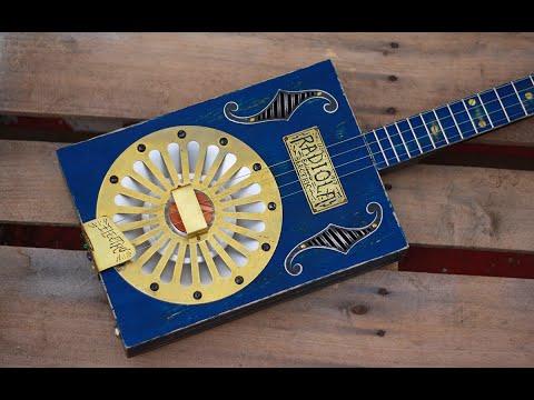 ⚡️Electro-Cigar Box Resonator⚡️Guitar - Old Time Slide Botteneck Blues