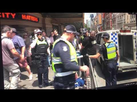 Arrested for having Australian Flag on Australia Day. Communist Police