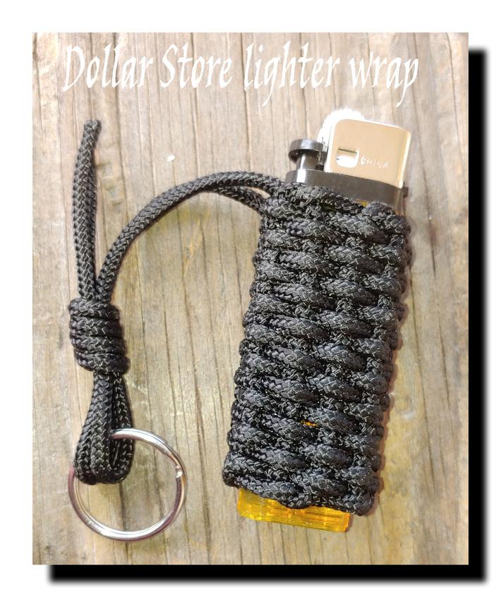 Dollar Store lighter wrap