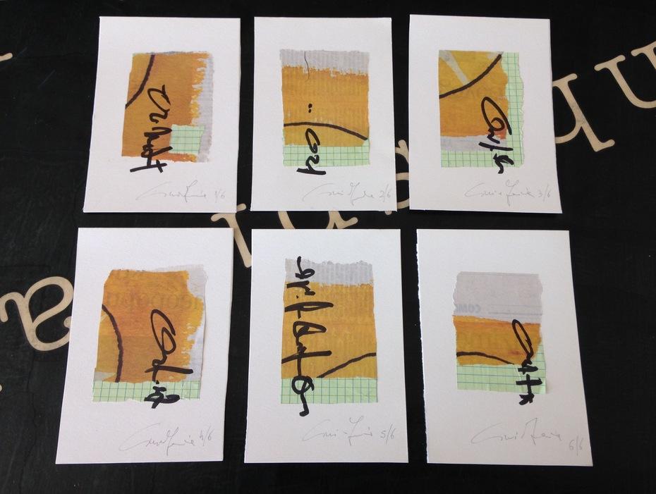 Cinzia Farina, sei cartoline per Debra Mulnick, Ilya Semenenko Basin, Serse Luigetti, Ruud Janssen, Walter Pennacchi, Bruno Cassaglia