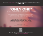 """""""Only One"""" - Play and Expert Panel on Sex Trafficking"""