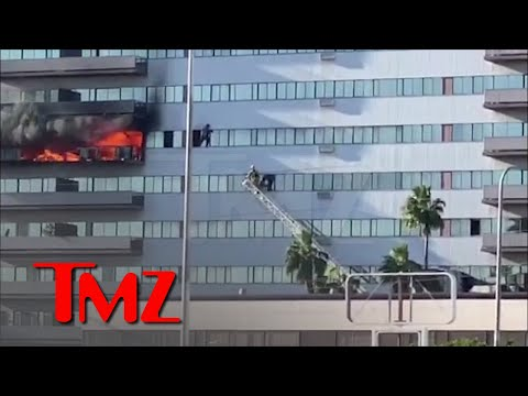 L.A. High-Rise Fire Leads to Daring Rescues