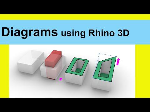 Diagrams using Rhino 3D