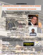 Conferencia Sobre Desastres Naturales y Ocacionados por el Hombre