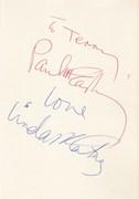 Paul McCartney & Linda McCartney Autographs 1978/9
