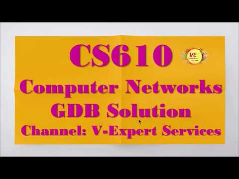 CS610-Computer Networks GDB Solution 2020