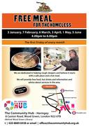 Free meal for anyone experiencing homelessness