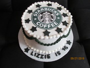 Starbucks Birthday Cake