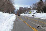 Ludington Michigan winter.  Lakeshore dr. near skate park