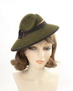 Olive Green Tilt Hat