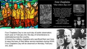 FOUR CHAPLAINS DAY