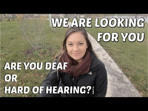 Casting search - for Canadian Deaf or Hard-of-Hearing adults