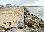 New seawall near Ludington, Michigan, boat launch