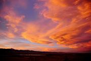 Brilliant winter sunset over the Indian Peaks, Boulder