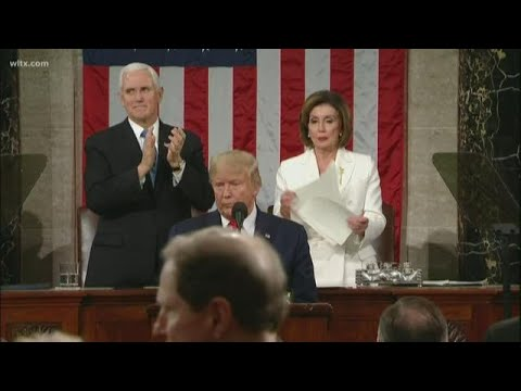 Nancy Pelosi ripped up President Trump's speech after State of the Union: full video