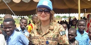 Pakistani Female Peace Keeper in Africa