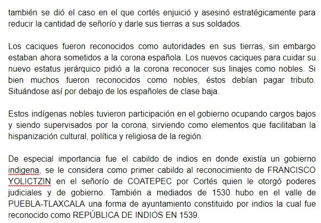 """reseña de """"La nobleza indígena novohispana y su retracción ante los cabildos de naturales. Algunos apuntes sobre el valle de Puebla- Tlaxcala y la cuenca de México"""" parte 2"""