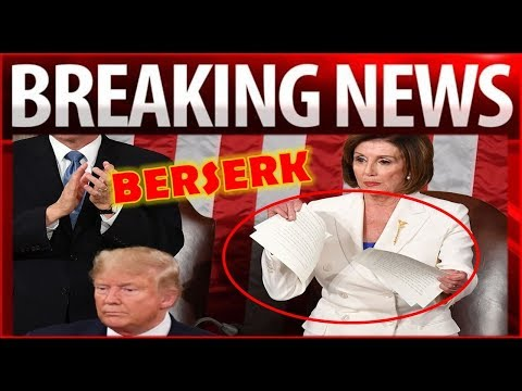 BOOM !! After R.ipping Up Trump's SOTU Speech – Pelosi Gets The B-OOT