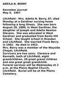 Adeila N. Berry Obituary