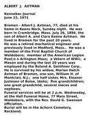 albert axtman obituary