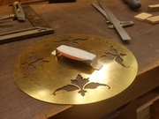Resolute: brass cover plate
