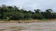 Peque peque boat on rio Beni