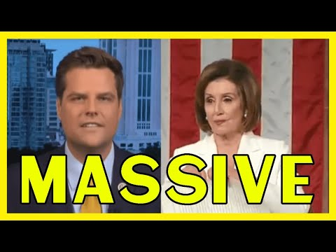 Matt Gatez Files Ethic Charges Against Nancy Pelosi She must be held accountable