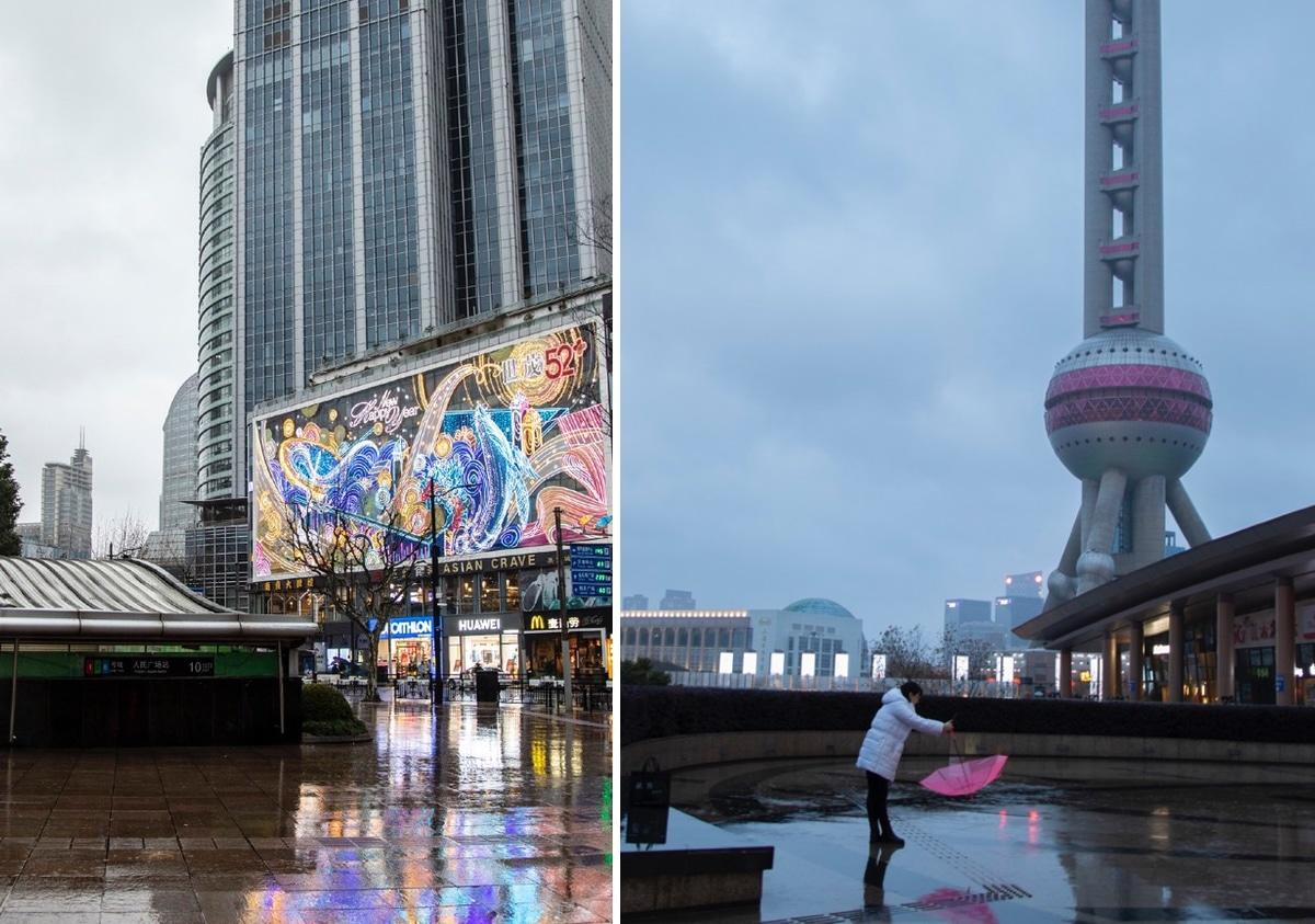 შანხაი, დაცლილი ქალაქი, ვირუსი, ჩინეთი, ფოტოგრაფია, qwellygraphy, china, shanghai, virus